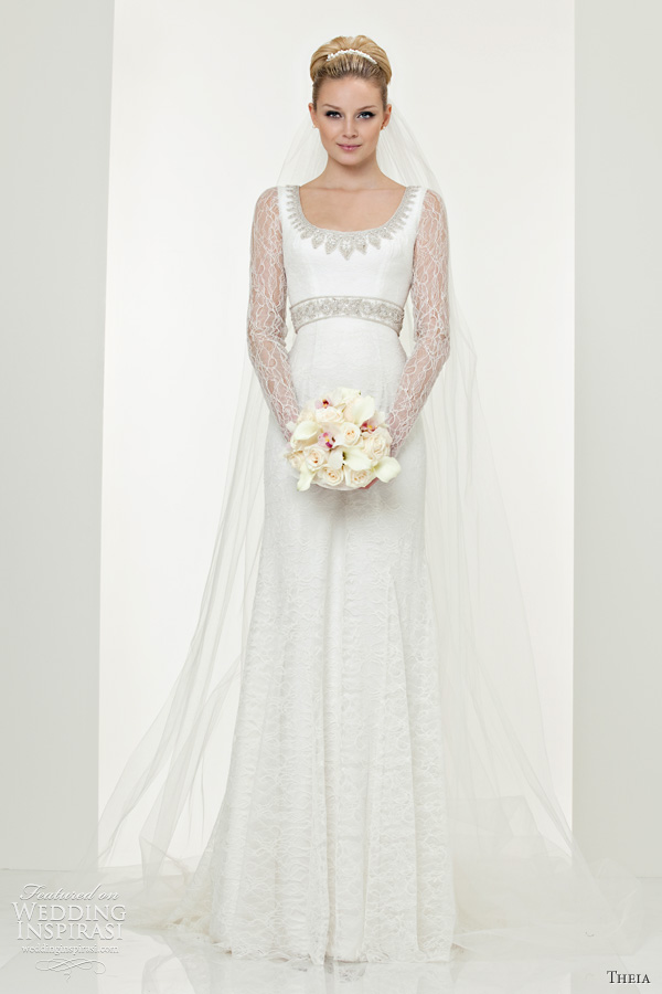 long sleeve wedding dresses theia couture