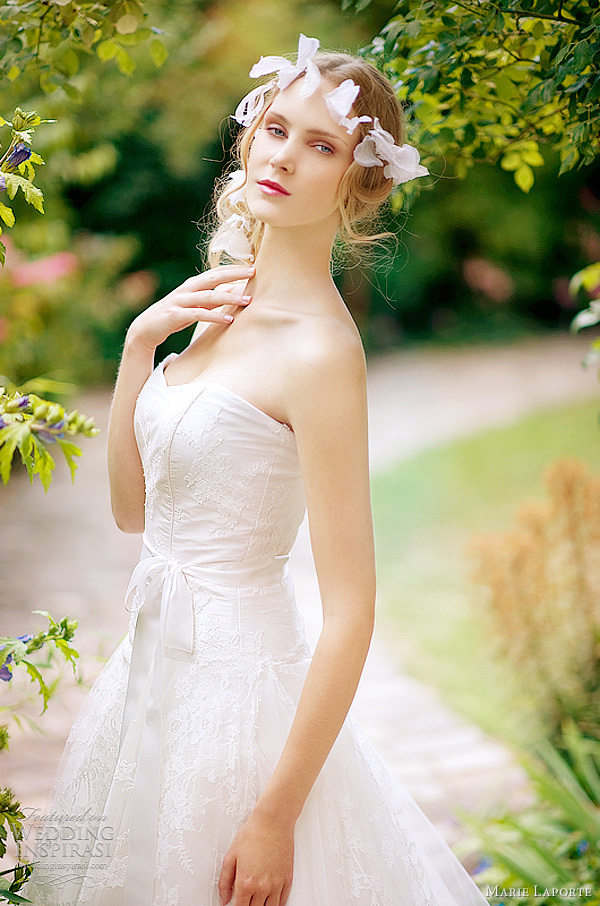 Romantic wedding dresses from French designer Marie Laporte 2012 Poetique