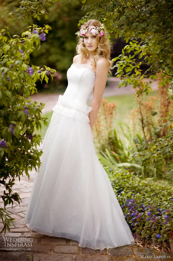 marie laporte wedding dress 2012