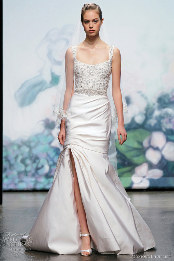 monique lhuillier fall 2012 bridal gown
