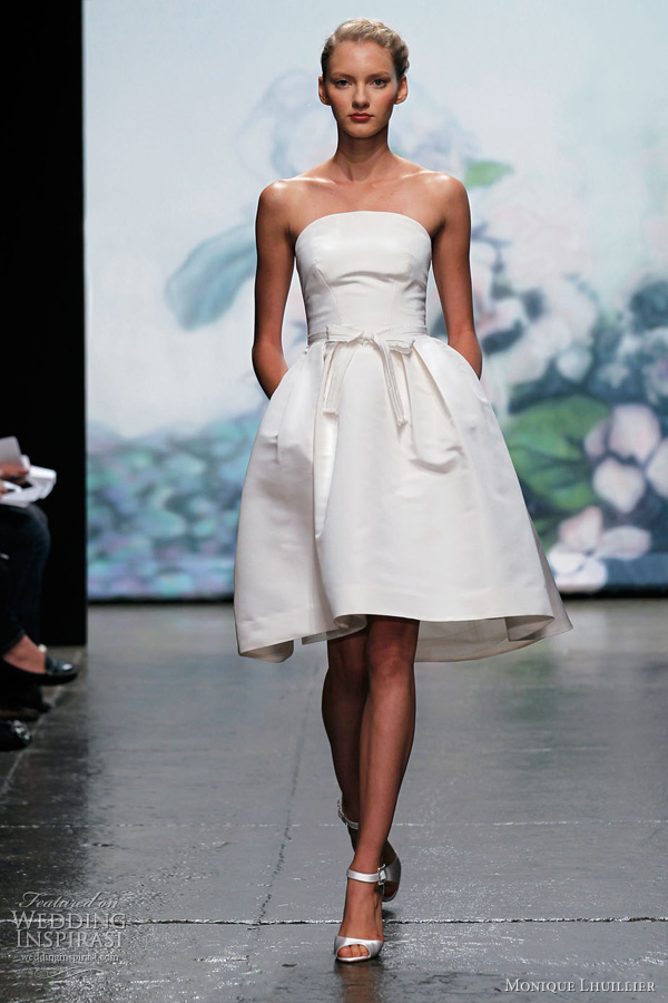 Monique Lhuillier Wedding Dresses Fall 2012 Wedding Inspirasi