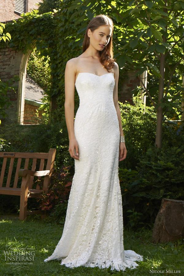 nicole miller strapless wedding dress | Wedding