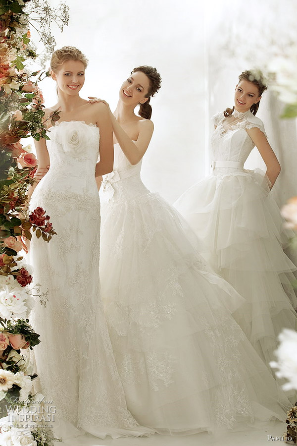 Girls get hot papilio wedding dresses 2012 for Nature inspired wedding dresses