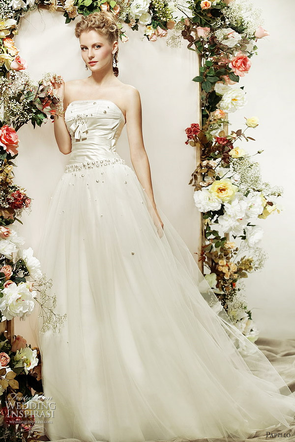 papilio champagne wedding dress