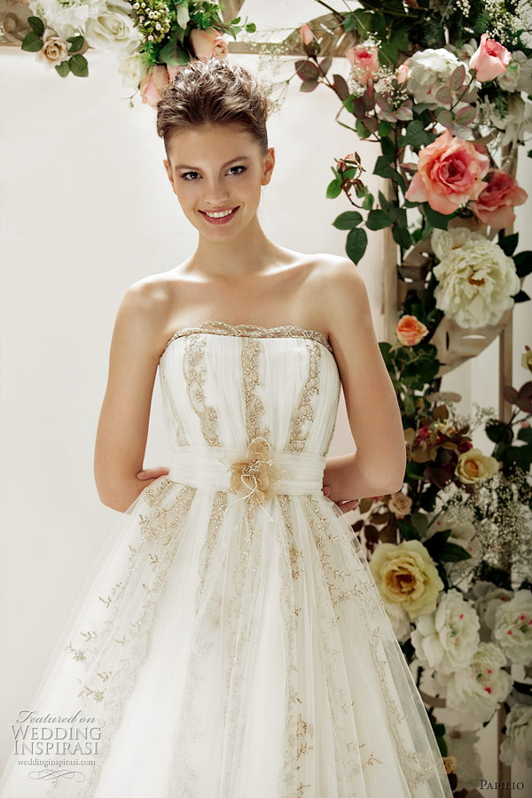 papilio gold wedding dress