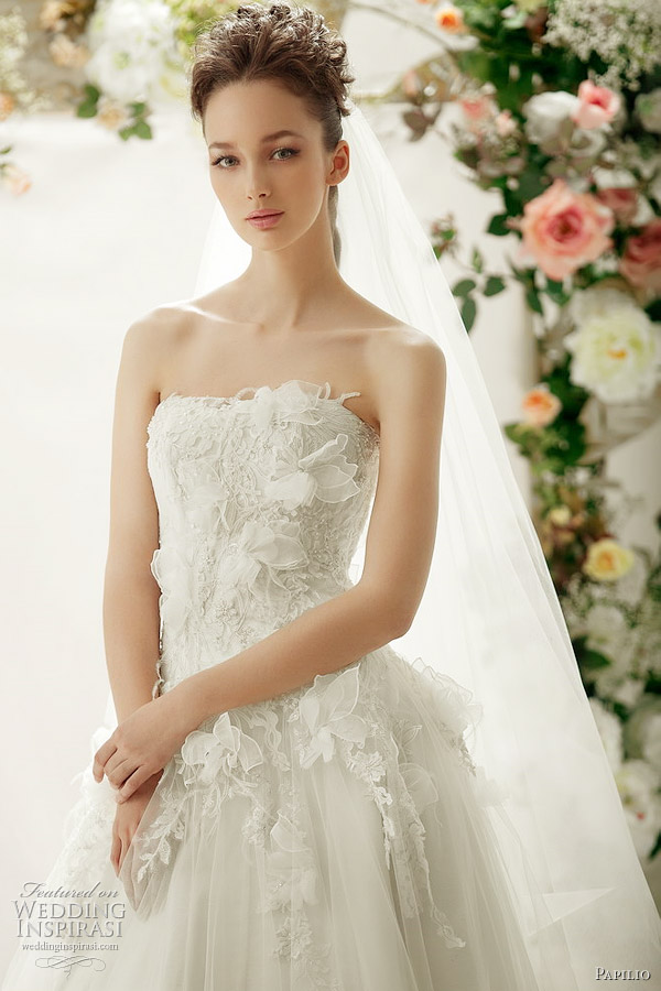 papilio romantic wedding dresses 2012