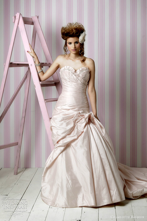 Charlotte balbier wedding dresses 2012 candy kisses for Rose pink wedding dress
