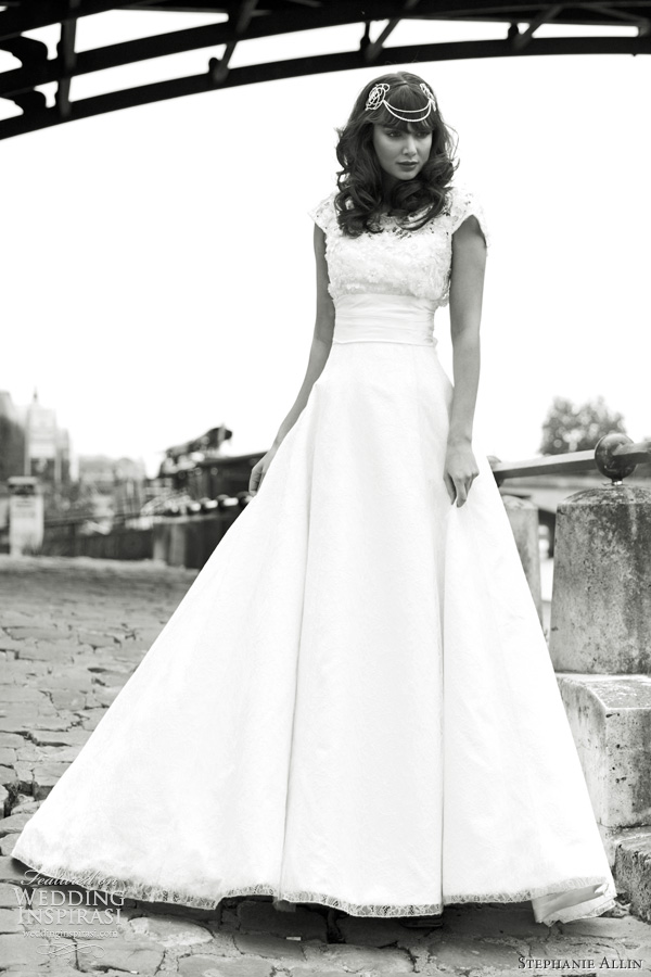 stephanie allin 2012 loren wedding dress
