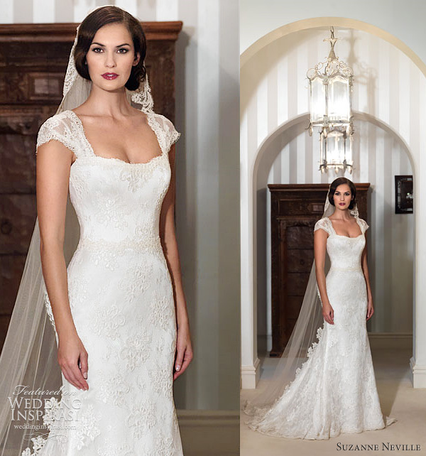suzanne neville 2012 wedding dresses - Lucia lace dress