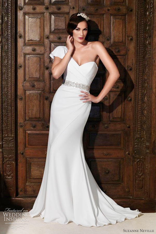 Below Hepburn strapless wedding dress in vintage corded lace