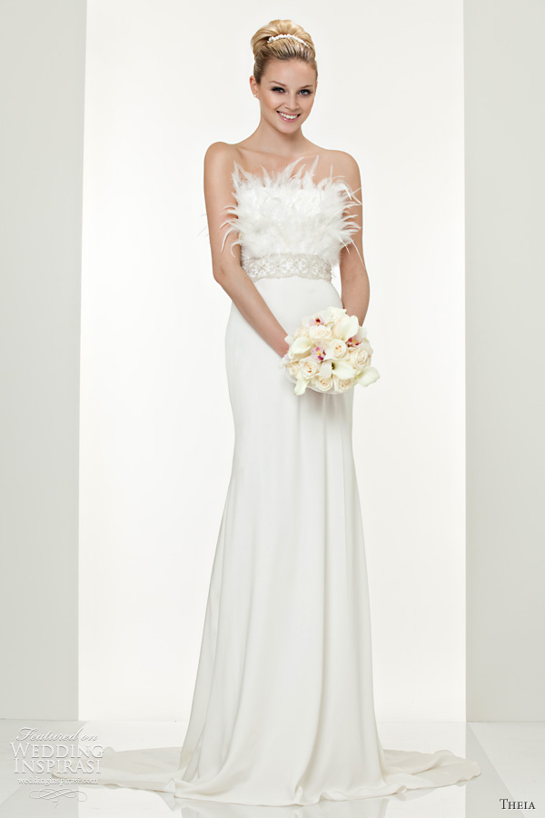 theia couture white collection column gown