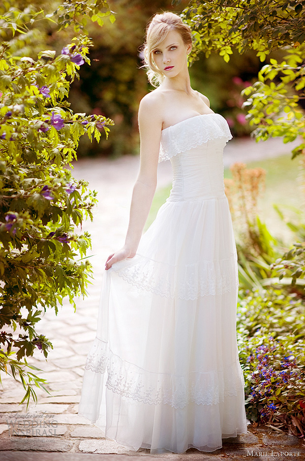 tiered lace wedding dress