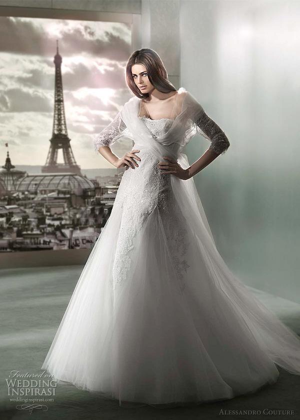 مجموعة كبيرة من  فساتين الزفاف الفرنسيه 2012 _2013 روعة وصور غاية فى الجمال Alessandro-couture-2012-long-sleeve-wedding-dress