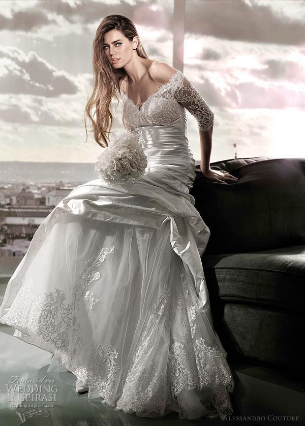 مجموعة كبيرة من  فساتين الزفاف الفرنسيه 2012 _2013 روعة وصور غاية فى الجمال Alessandro-couture-2012-nurrica