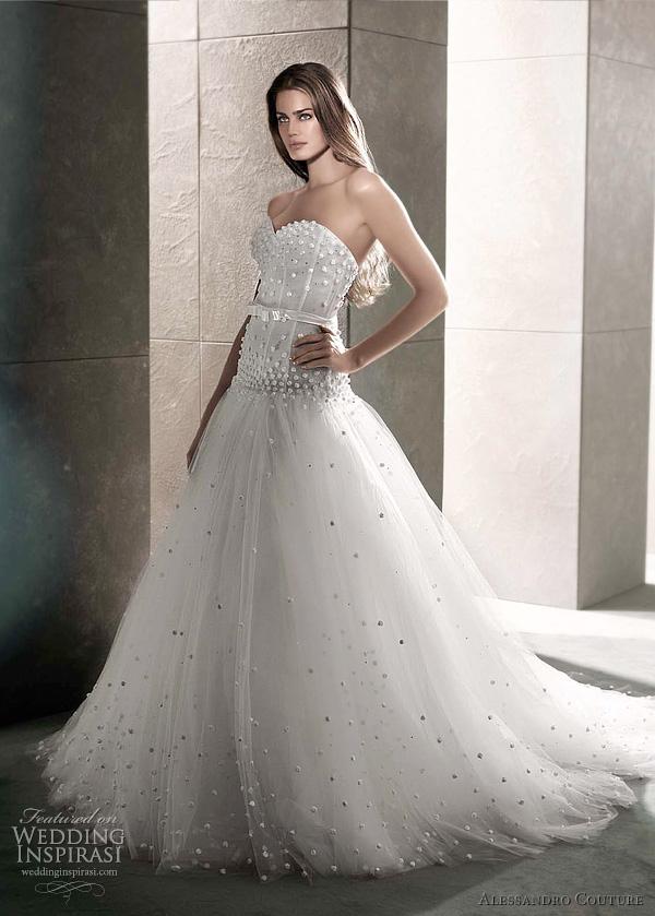 مجموعة كبيرة من  فساتين الزفاف الفرنسيه 2012 _2013 روعة وصور غاية فى الجمال Alessandro-couture-2012-wedding-dress-dida