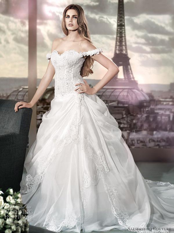 مجموعة كبيرة من  فساتين الزفاف الفرنسيه 2012 _2013 روعة وصور غاية فى الجمال Alessandro-couture-2012