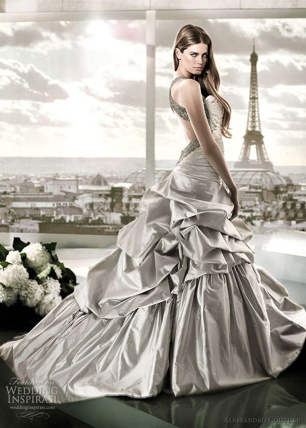 alessandro couture wedding dress autumnalia