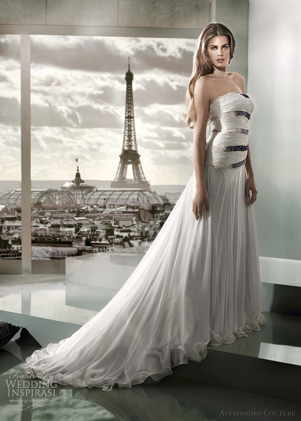 alessandro couture wedding gown - Marea