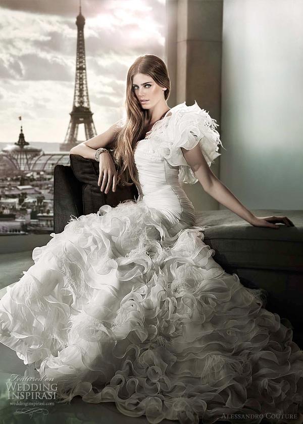 مجموعة كبيرة من  فساتين الزفاف الفرنسيه 2012 _2013 روعة وصور غاية فى الجمال Alessandro-couture