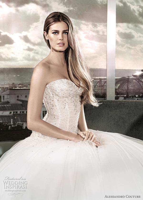 مجموعة كبيرة من  فساتين الزفاف الفرنسيه 2012 _2013 روعة وصور غاية فى الجمال Alessandro-couture1