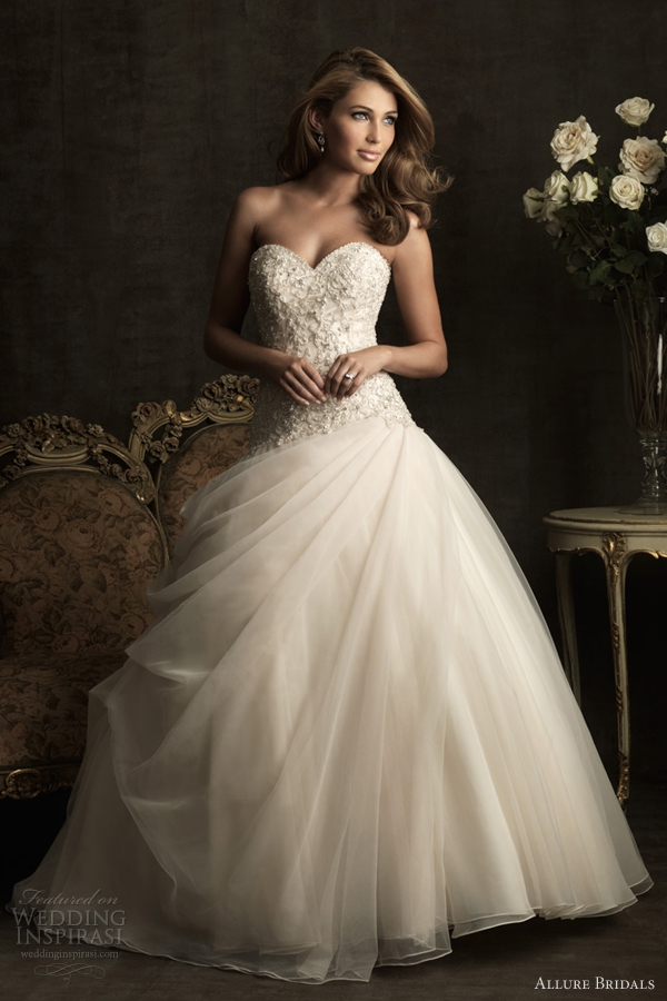 allure bridals 2012 ball gown wedding dress