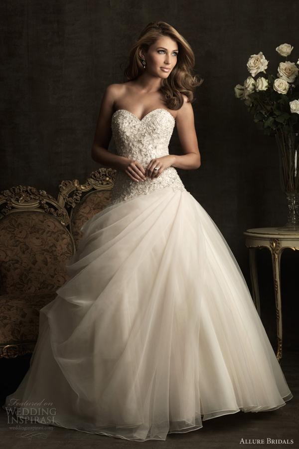 allure bridals 2012 ball gown wedding dress