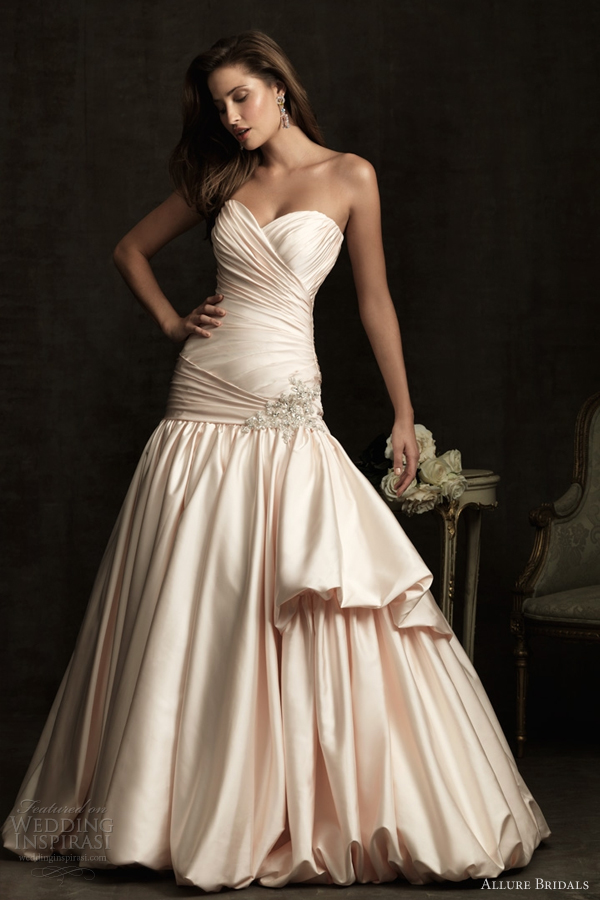 allure bridals color wedding dresses 2012