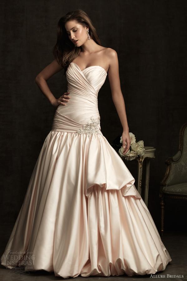 allure bridals color wedding dresses 2012