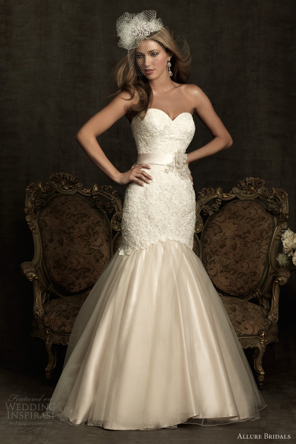 allure bridals mermaid wedding dresses 2012