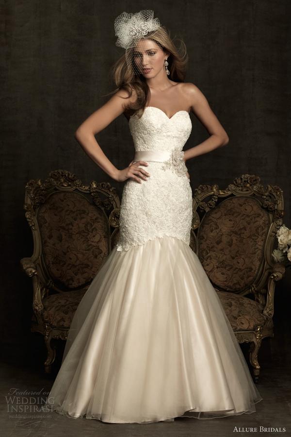 allure bridals mermaid wedding dresses 2012