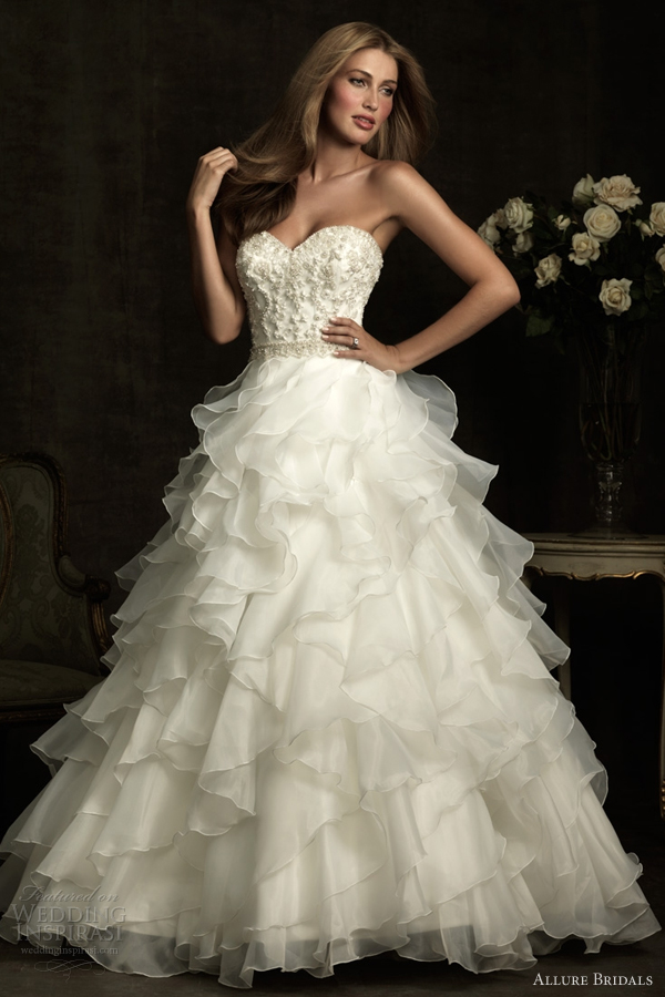 allure bridals wedding dresses 2012