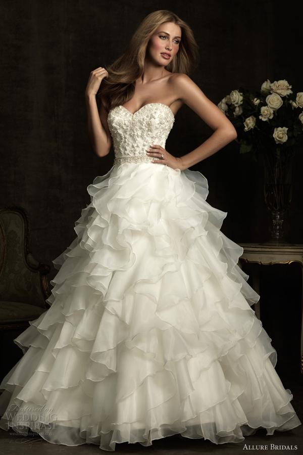 allure bridals wedding dresses 2012
