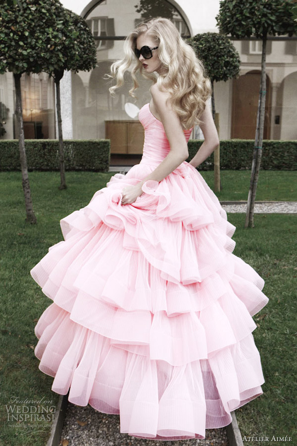 atelier aimee 2012 pink wedding dress