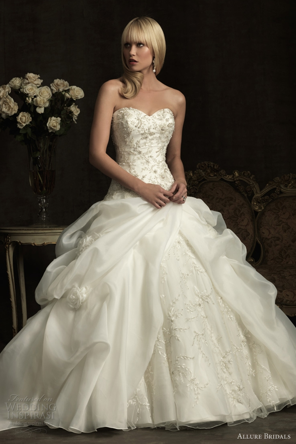 Ball gown with signature Allure embroidery and Swarovski crystals. The ...