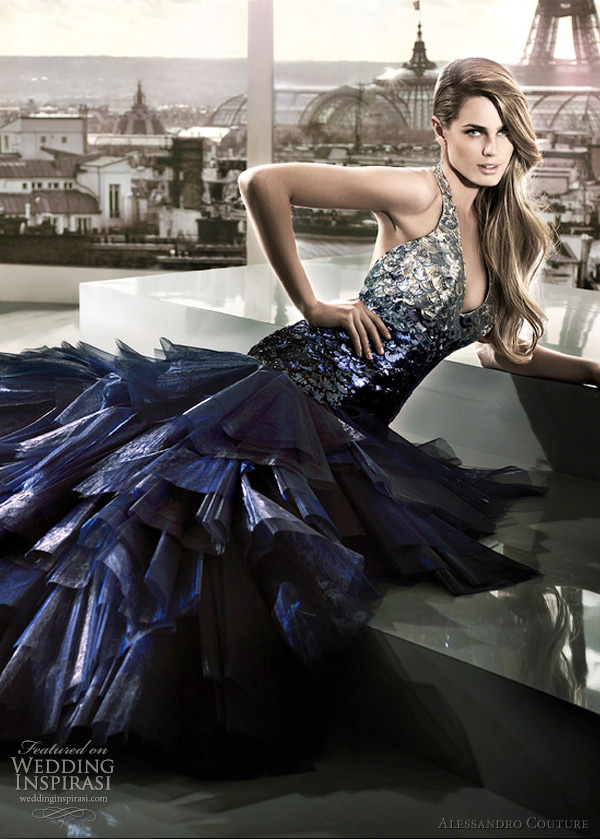 blue wedding dress 2012 - apollon