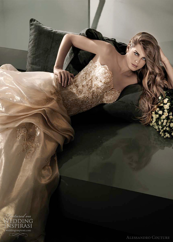 color wedding dresses 2012 - Lutea by Alessandro Couture