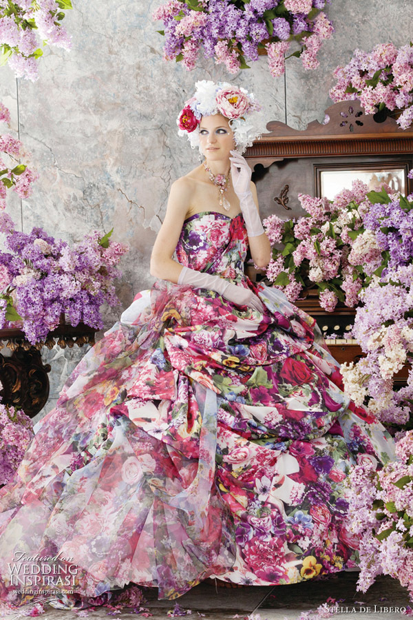 colorful wedding dresses 2012