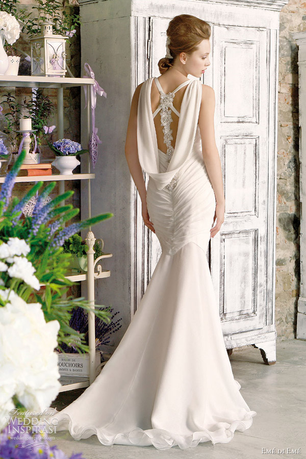 Mermaid gown with beautiful crystal detail at the back eme di eme wedding
