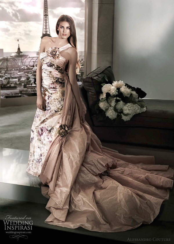 floral print wedding dress 2012 - PORTURATA by Alessandro Couture