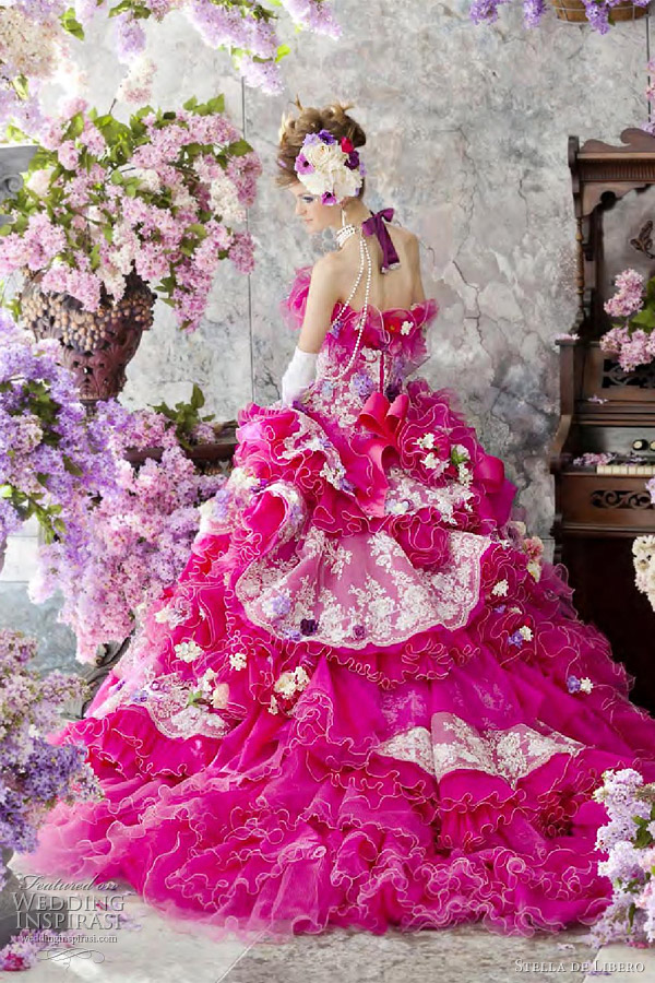 fuschia wedding dresses