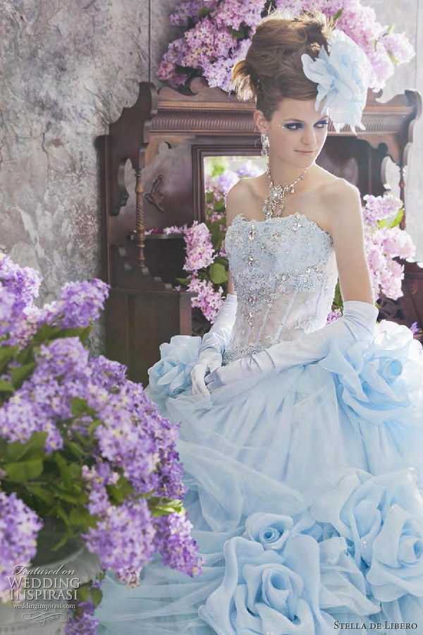 Stella De Libero Color Wedding Dresses Pale Blue Dress