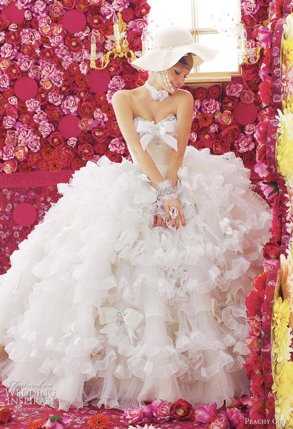 peachy girl 2012 bridal collection