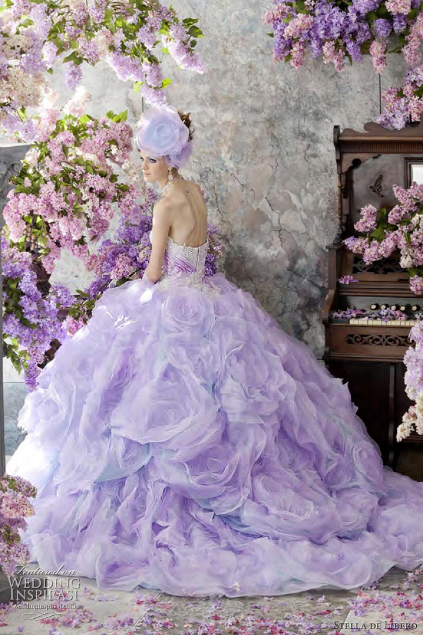 Purple Wedding Dresses For  : Stella de libero color wedding dresses inspirasi
