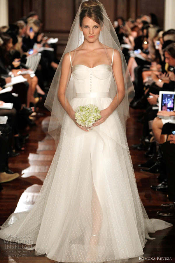 romona keveza wedding dress 2012 RK292 Fit and flare sleeveless gown with
