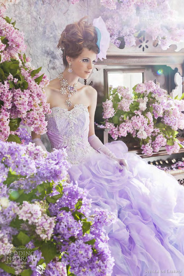 stella de libero 2012 color wedding dresses