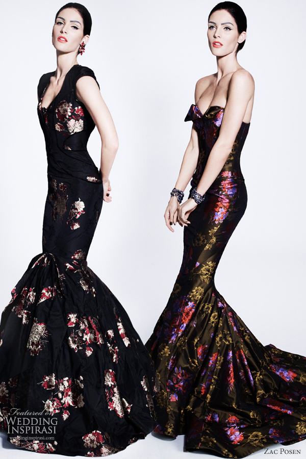 zac posen pre fall 2012 printed dresses
