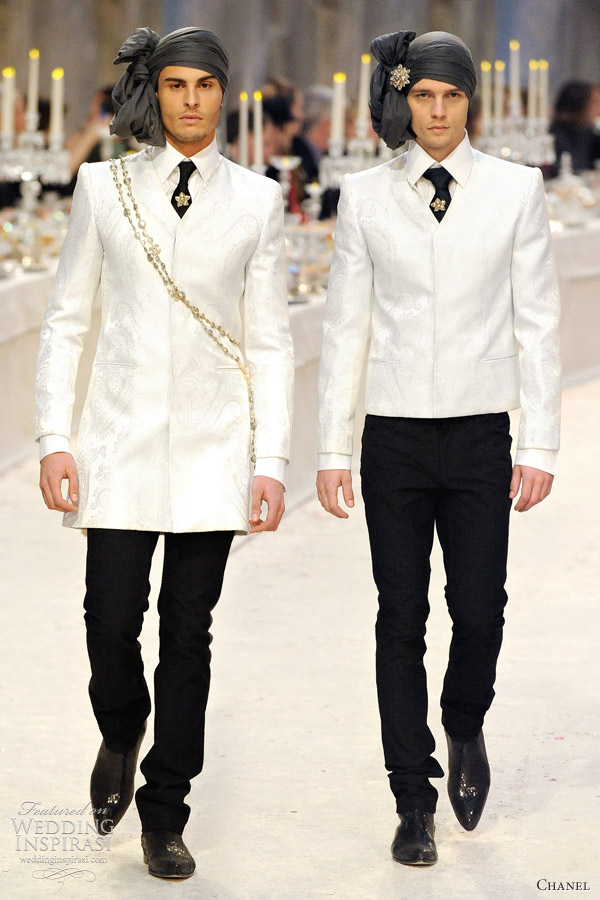 chanel mens wear wedding