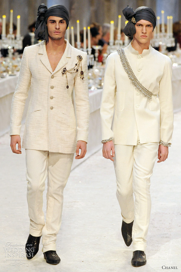chanel menswear wedding