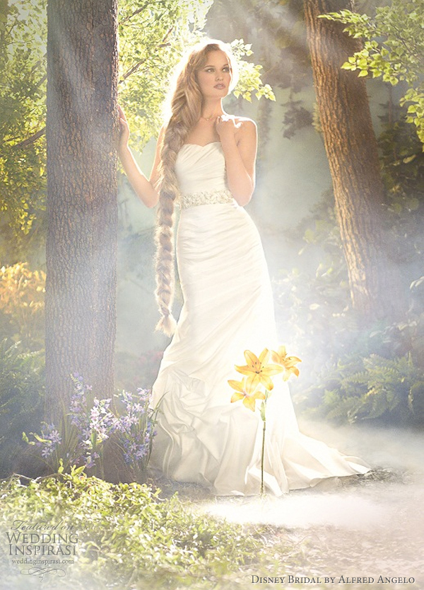 disney bridal alfred angelo 2012 rapunzel wedding dresses