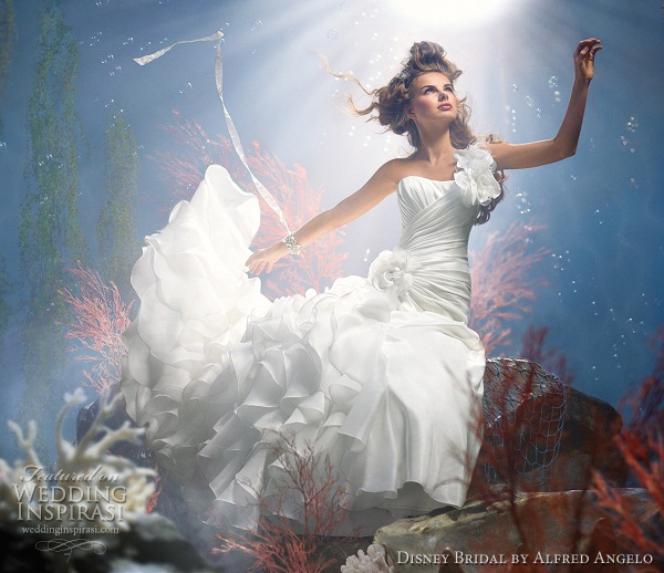 disney bridal alfred angelo ariel wedding dresses 2012